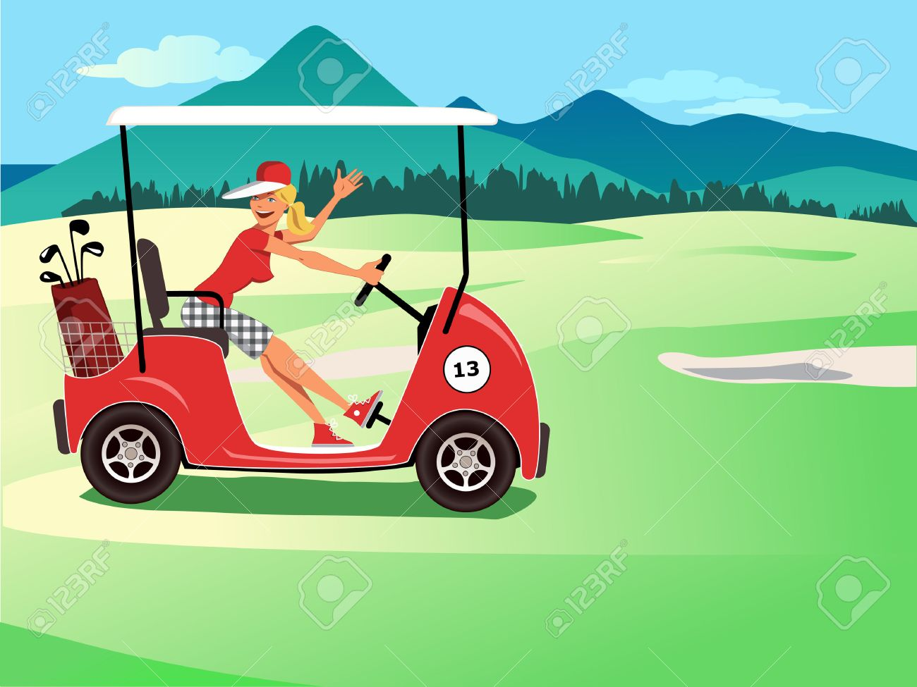 1300x975 Golf Cart Stock Photos. Royalty Free Business Images