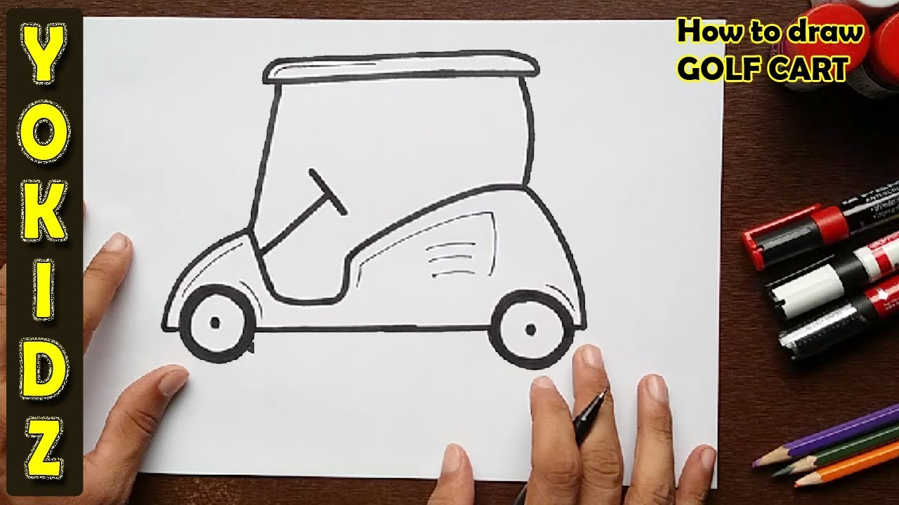 1280x720 How To Draw A Golf Cart