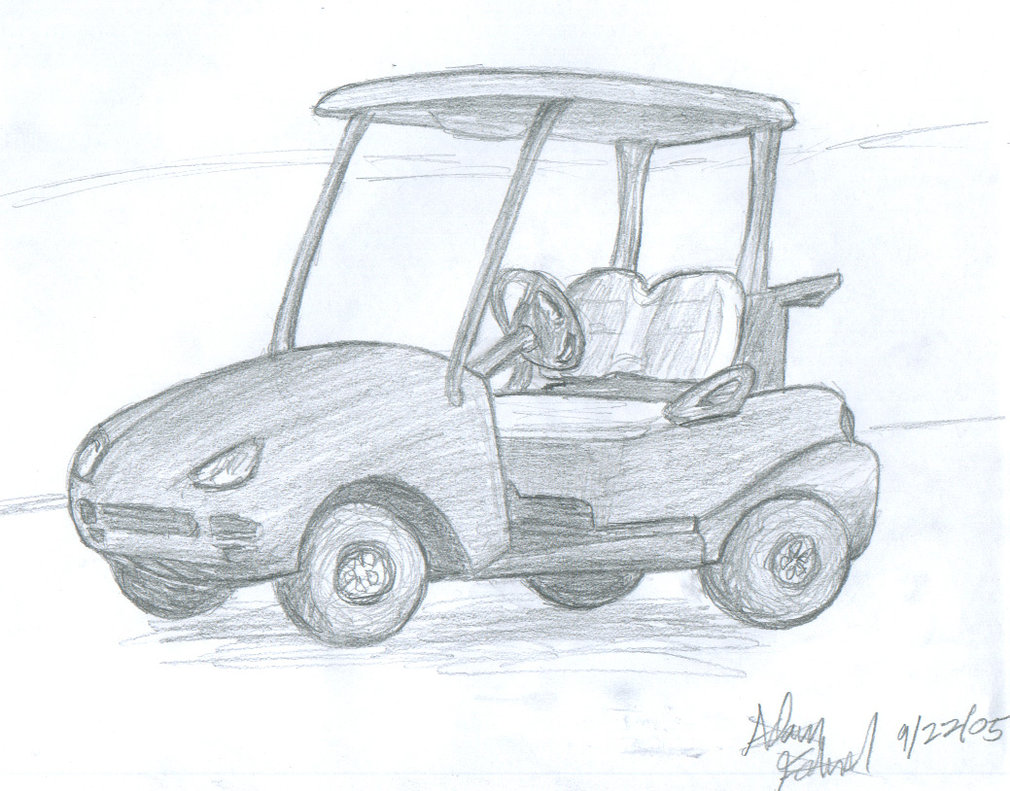 Golf Cart Drawing At Free For Personal Use Columbia Par Car Ignition Wiring Diagram 1010x791 20 Minute Sketch By Link293