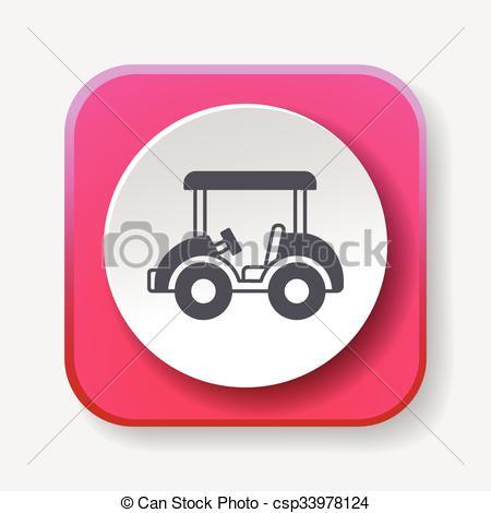 450x470 Golf Cart Icon Vector Illustration