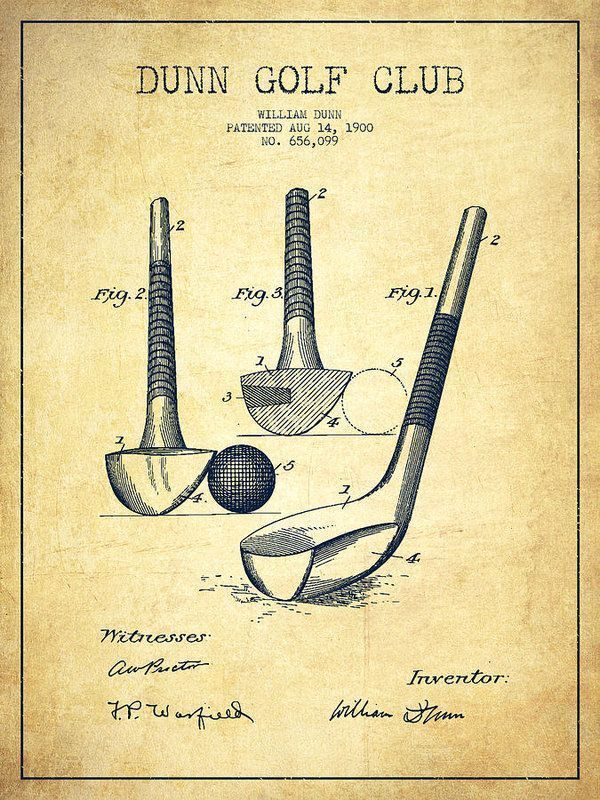 600x800 Dunn Golf Club Patent Drawing From 1900