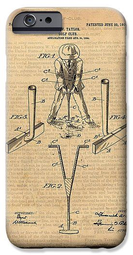 275x525 Sport Patents Antique Golf Club Patent Art Drawing Iphone 6s Case