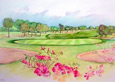 451x324 Anne Rosenvald Golf Course Art