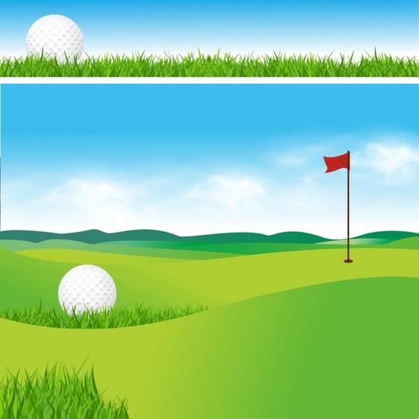 600x600 Golf Course Free Vector In Adobe Illustrator Ai ( Ai