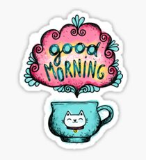 210x230 Cute Good Morning Drawing Stickers Redbubble