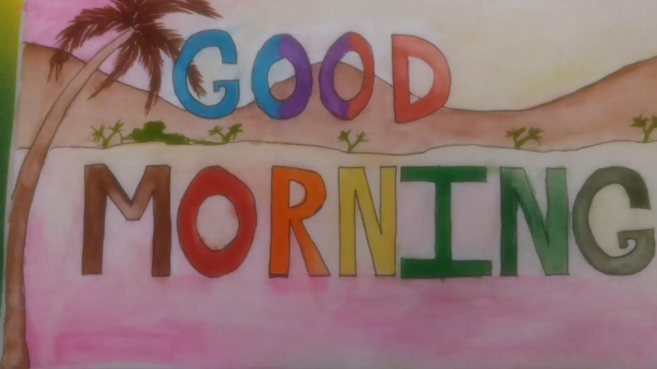 1280x720 Good Morning Drawing