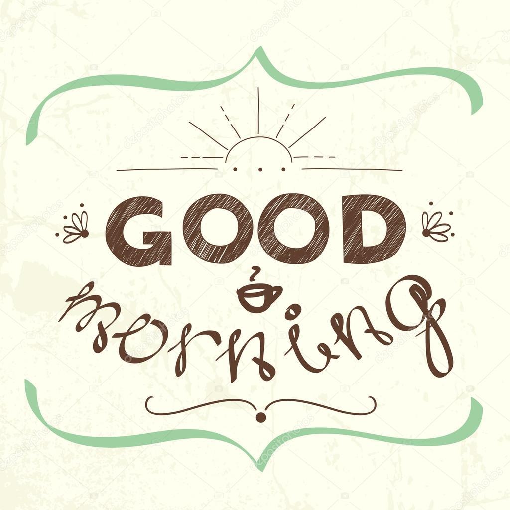 1024x1024 Good Morning Stock Vector Tashanatasha