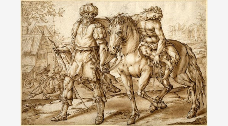 800x442 2 Drawings Of The Parable Of The Good Samaritan By Wouter Pietersz