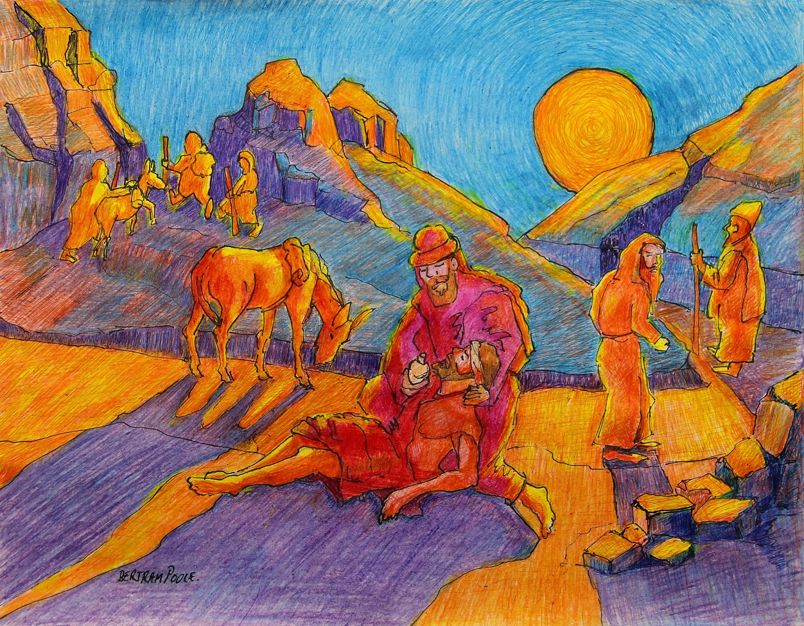1600x1246 Christian Art Now Parable Of The Good Samaritan Drawing By