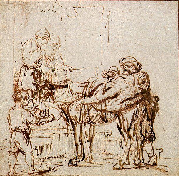 608x600 Rembrandt Harmensz. Van Rijn The Good Samaritan