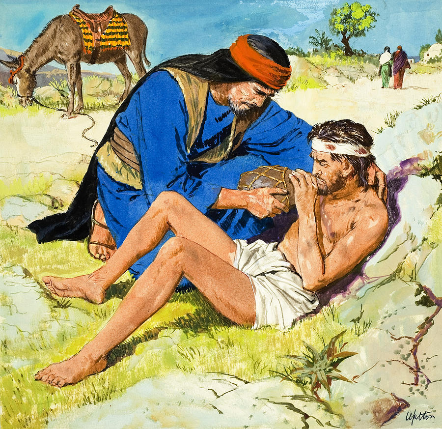 900x873 The Good Samaritan Painting By Clive Uptton