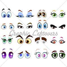 236x236 Focused Eyes Drawing Cartoon