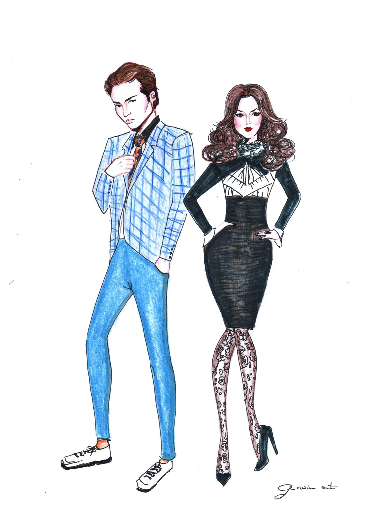 1280x1762 Gnuinart Chuck And Blair Gossip Girl Art Gossip