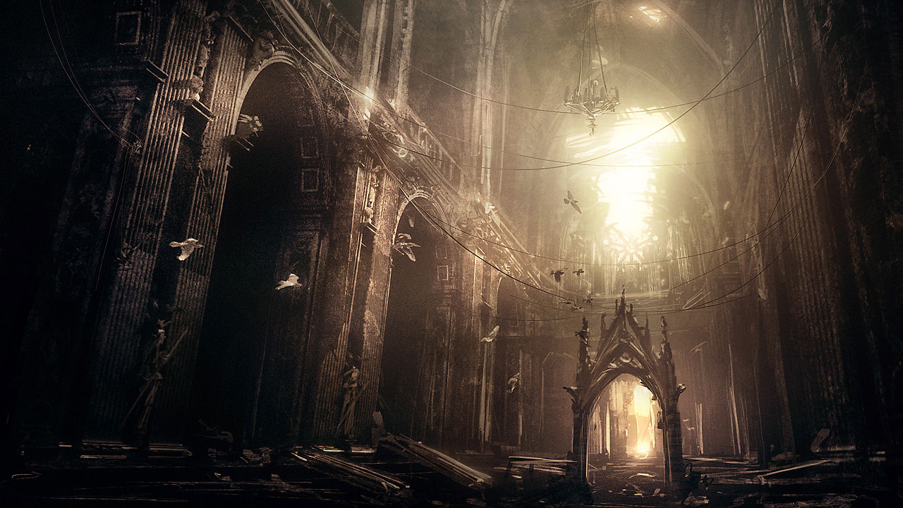 1280x720 Abandoned Gothic Cathedral