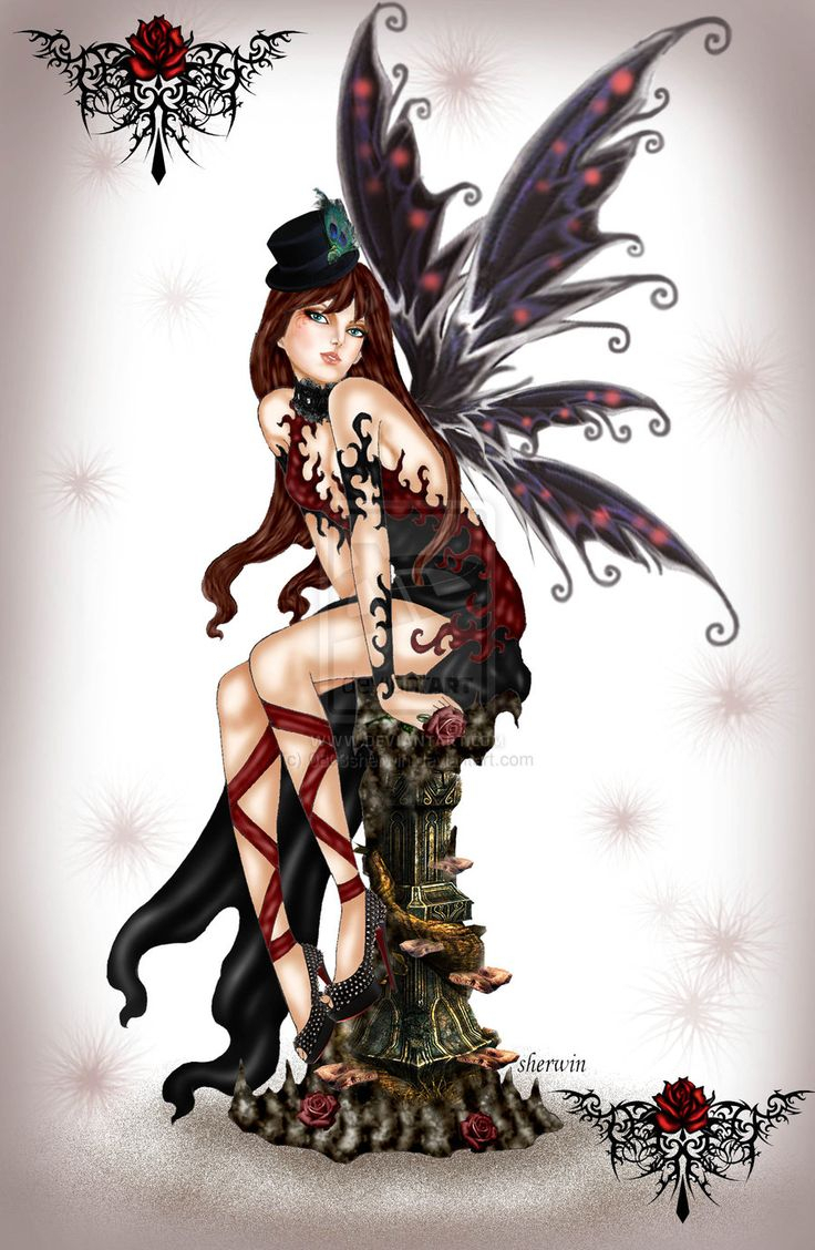 736x1128 Drawings Of Gothic Fairies Best Fairy Drawings Ideas