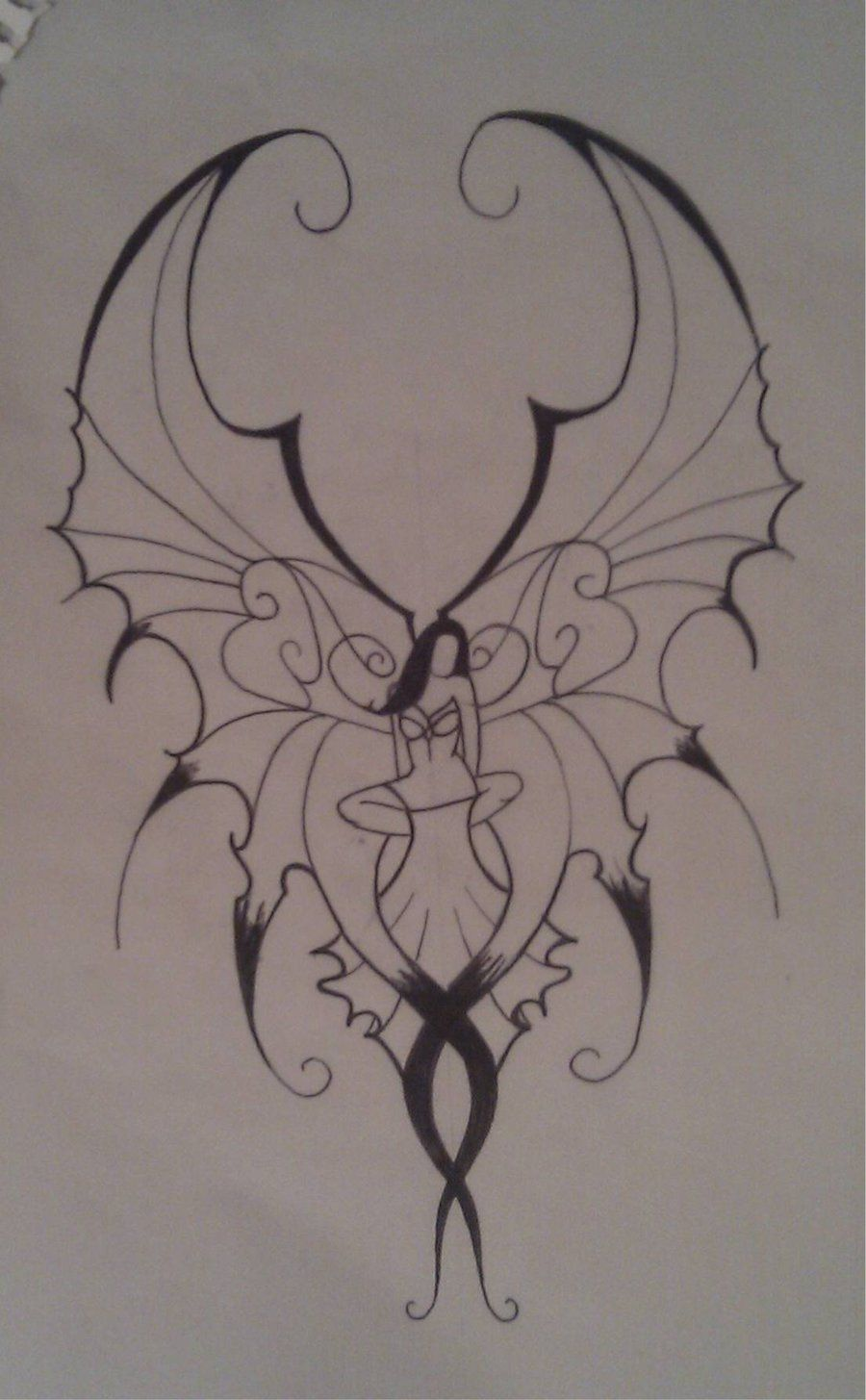 900x1455 Images For Gt Easy Drawings Of Gothic Fairies Pics