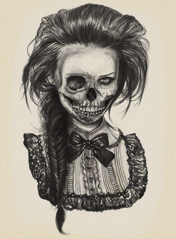 589x800 Gothic, Girl Drawing Tatted And Pierced Gothic