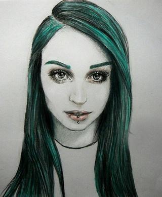 320x389 I Had To Draw Realistic Female For Myrt Class So I Drew