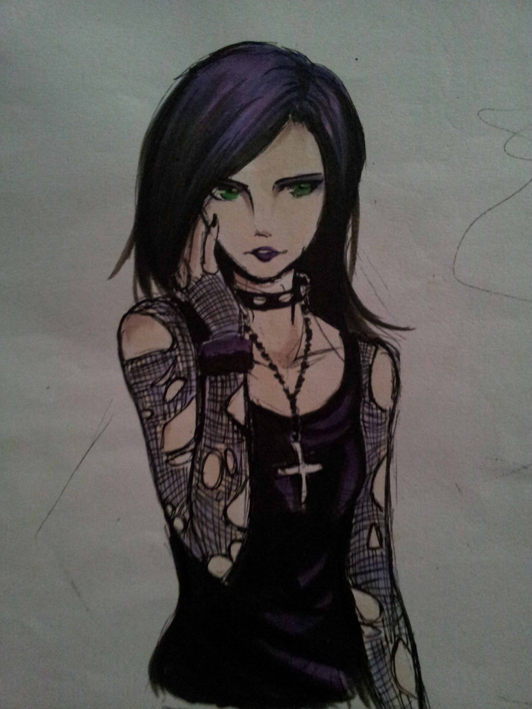 774x1032 Random Goth Girl By Xlunaticxz