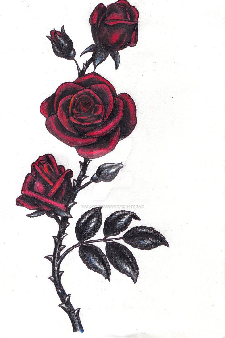 729x1095 Gothic Rose By Dragonwings13
