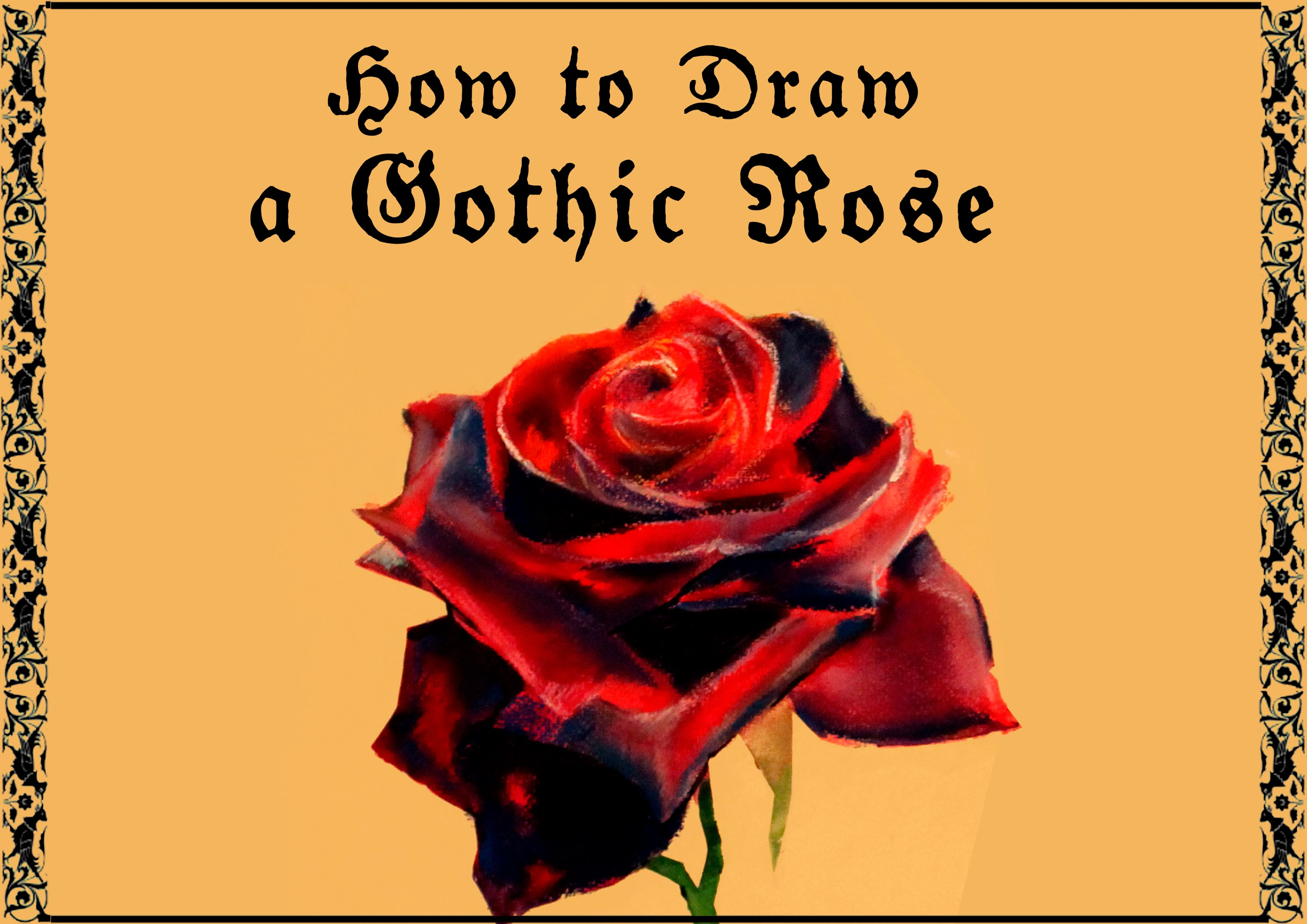 Gothic Rose Drawing at GetDrawings.com | Free for personal use ...