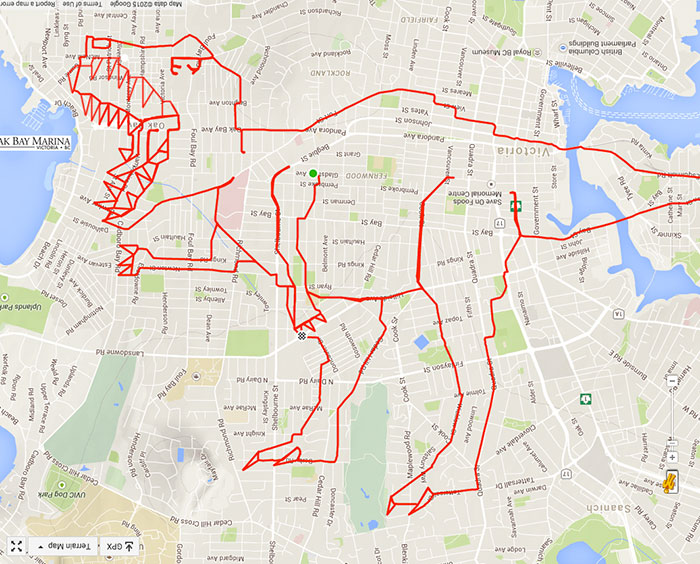 700x564 Artist Draws World's Largest Doodles By Riding His Bike With Gps