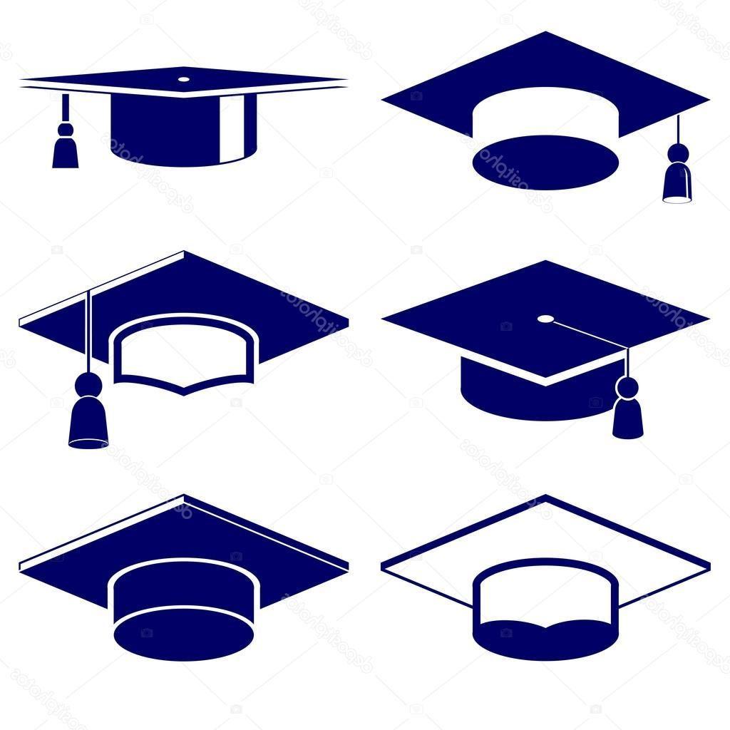 1024x1024 Best Hd Stock Illustration Graduation Cap Icon Set Drawing