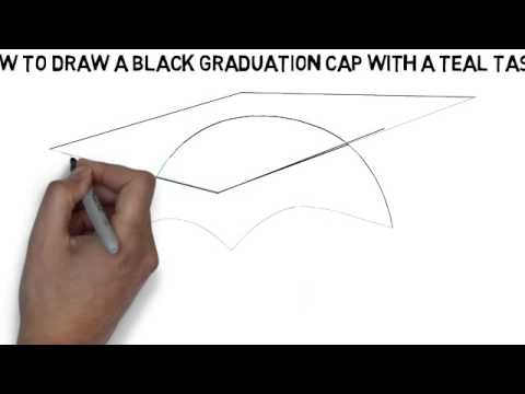480x360 How To Draw A Black Graduation Cap With A Teal Tassel