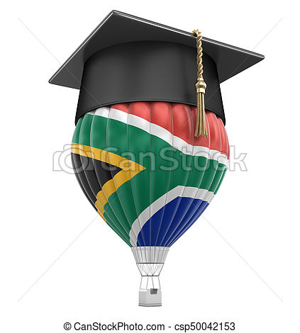 423x470 Hot Air Balloon With Flag Of South African Republic And Stock