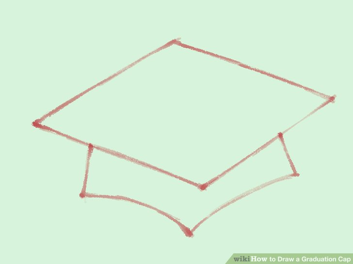 728x546 How To Draw A Graduation Cap 5 Steps (With Pictures)