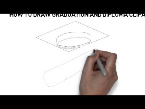 480x360 How To Draw Graduation And Diploma Clipart