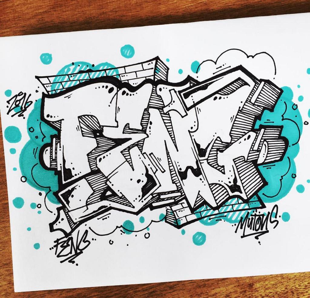 1024x983 Graffiti BlackBook Drawing 3D Alphabet Letter