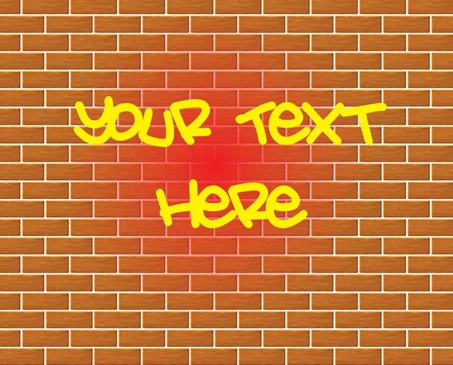 646x521 Graffiti Brick Wall Drawing Vector Vector Free Download