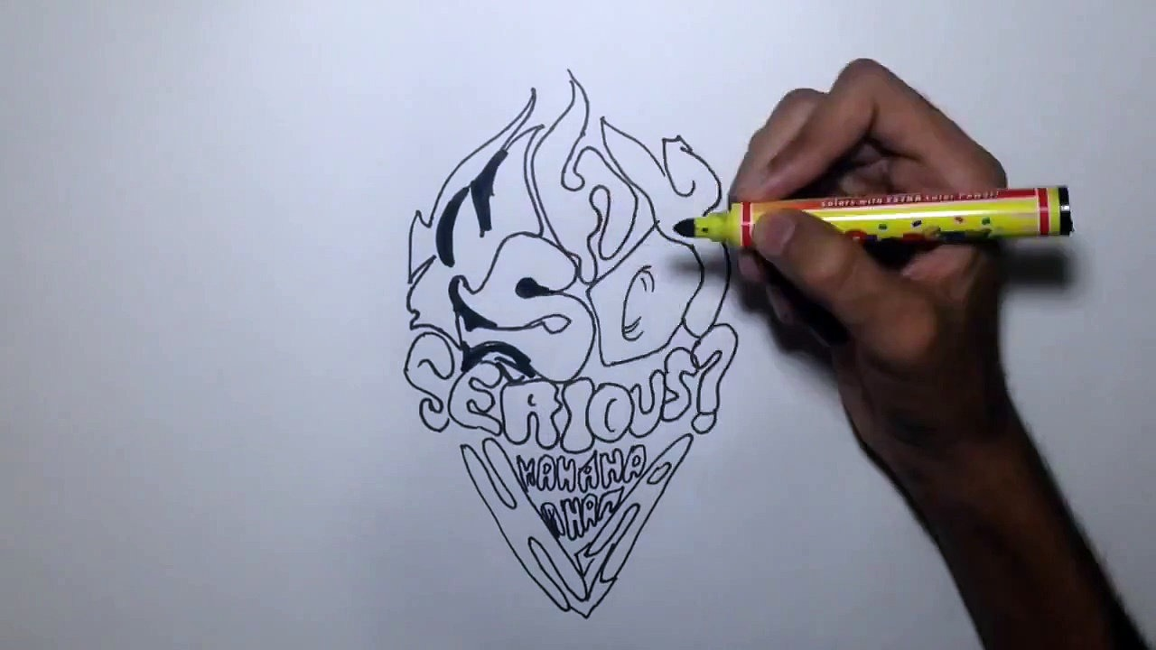 How to draw graffiti on paper with a pencil 35