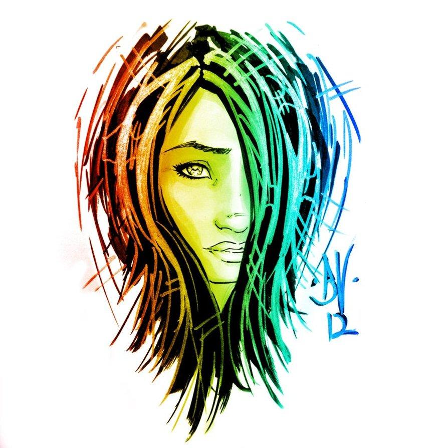 894x894 Copic Graffiti Girl By Metaworks