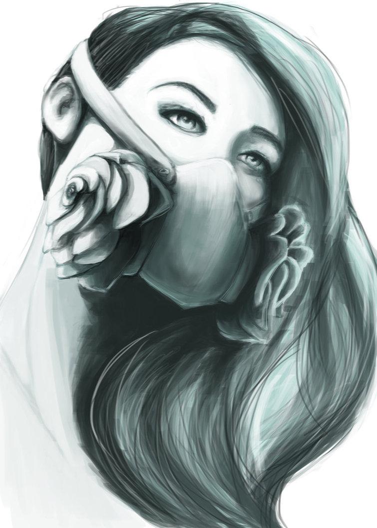 755x1057 Graffiti Draw For Girls Graffiti Girls Drawing Gas Mask Girl