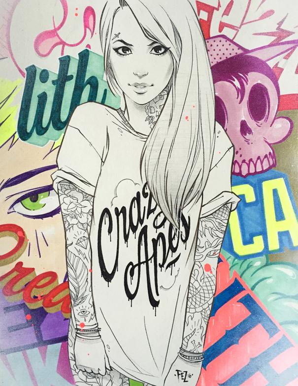 605x784 Graffiti Girl 3. By Fezat1