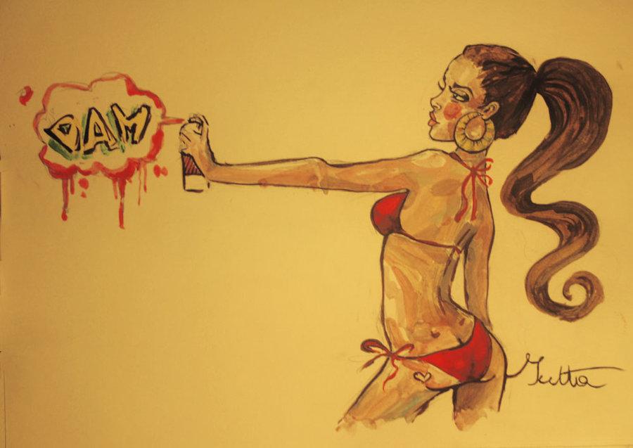 900x637 Graffiti Girl By Yuuutta