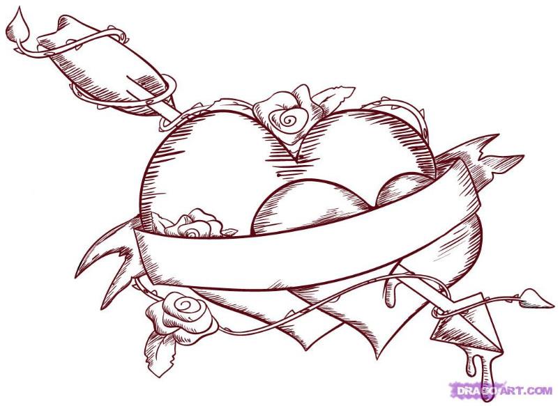 803x583 Gips Sketch 2 Graffiti Heart By Dragon Art