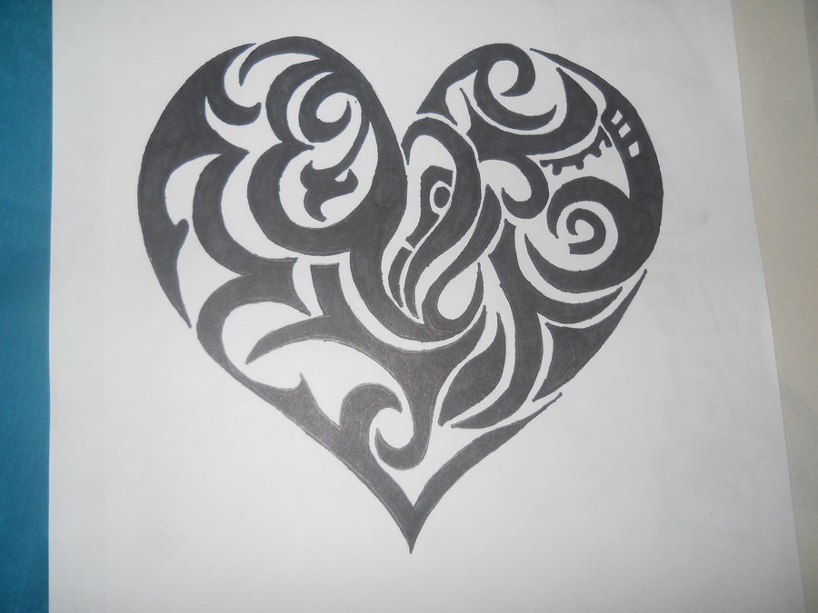 900x675 Graffiti Heart By Hellokittygirl11