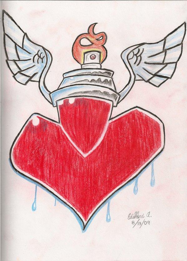 600x836 Graffiti Heart By Salvi Prider
