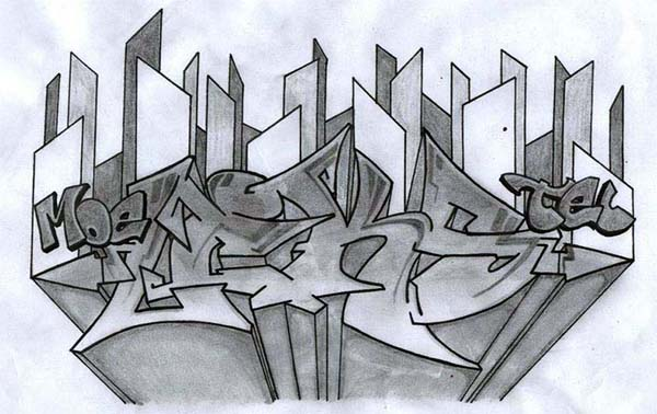 600x378 Best Graffiti Pencil Drawings Amp Sketches For Your Inspiration