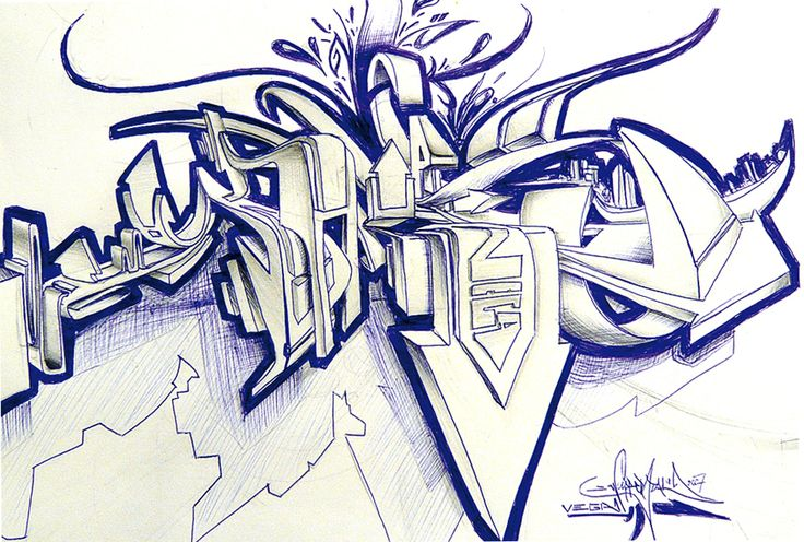 736x496 3d sketch by vega0ne freehand graffiti sketched 3d style pencil