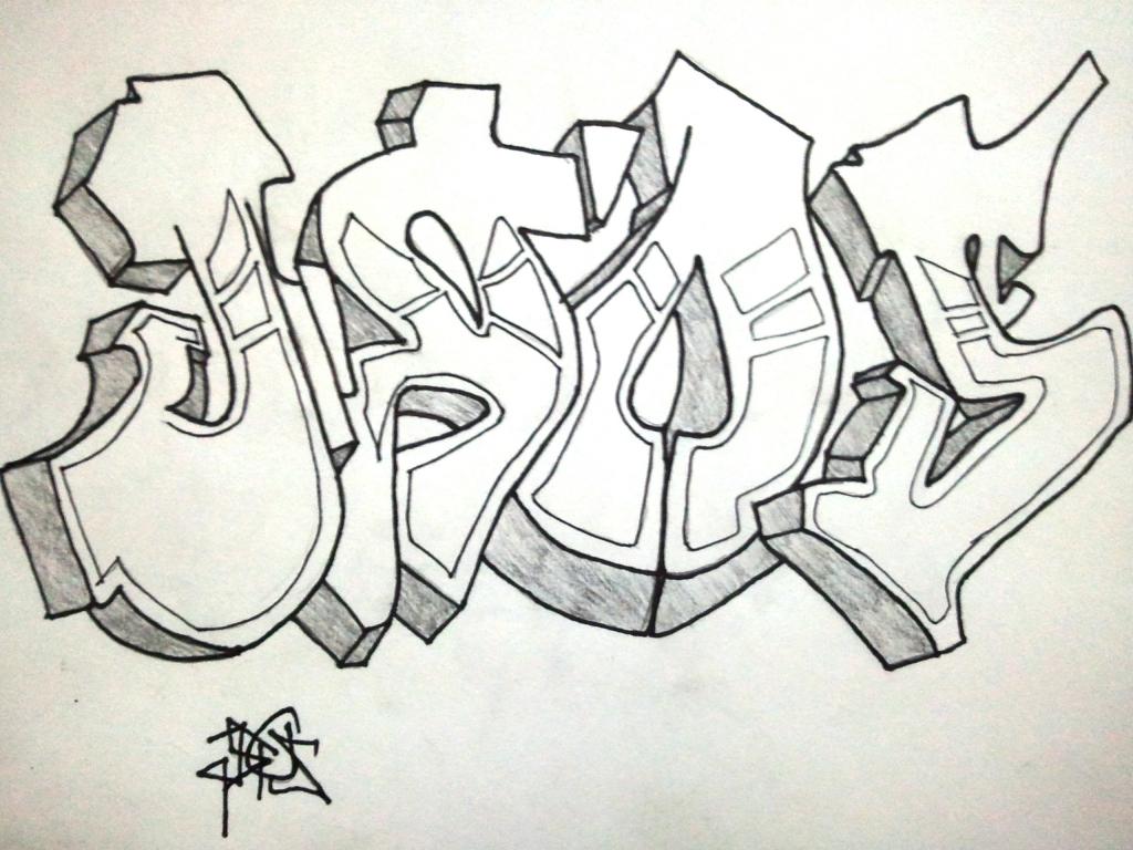 1024x768 Graffiti Drawing By Pencil Drawing A Graffiti Pencil Character