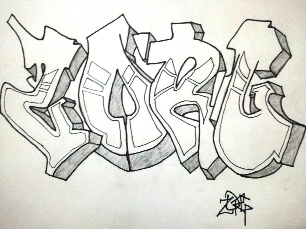 1024x768 Graffiti Pencil Sketch Graffiti Pencil Drawings