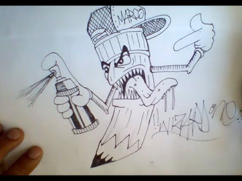 480x360 How To Draw Graffiti Pencil Character
