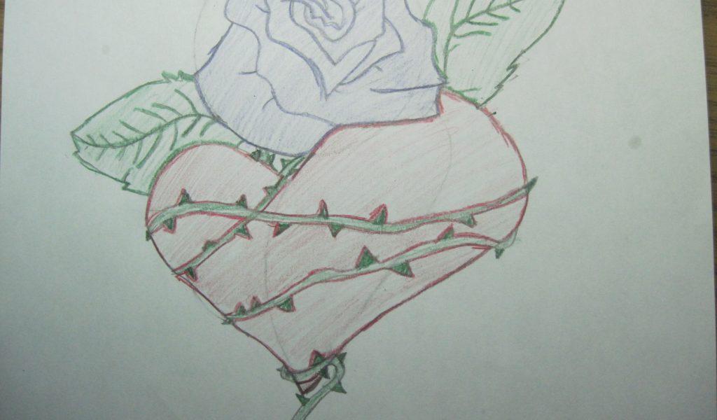 1024x600 Heart Graffiti Drawing Drawn Rose Grafitti