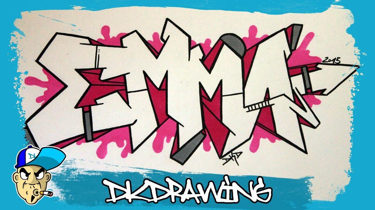1280x720 How To Draw Graffiti Names