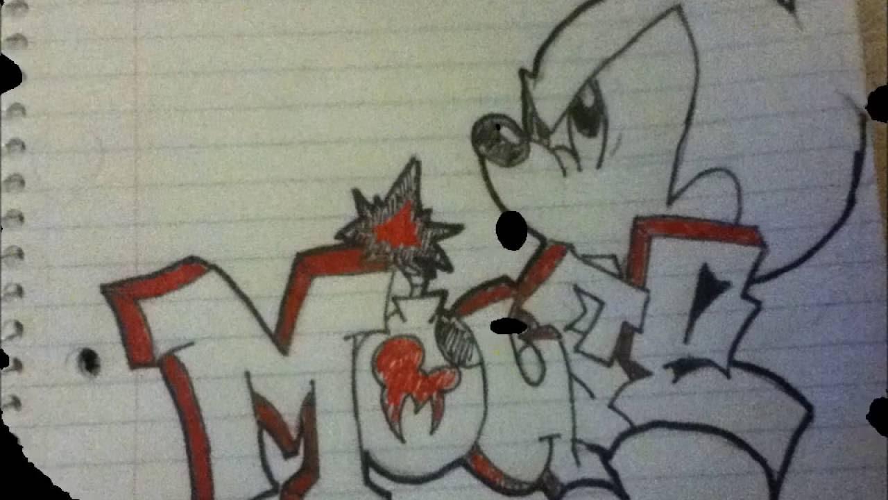 1280x720 Mickey Mouse Graffiti Drawing