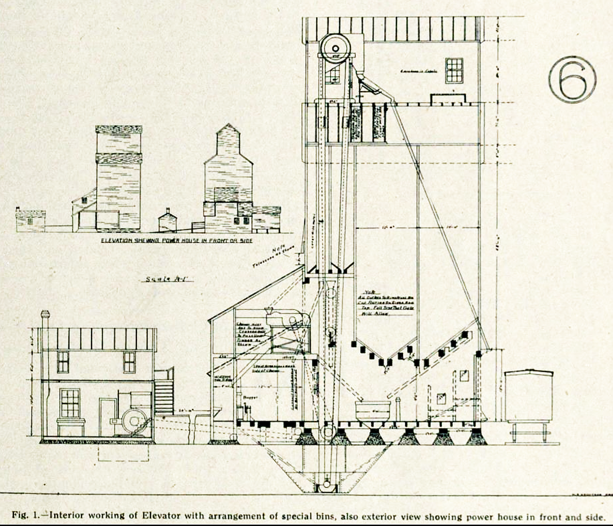 Grain Elevator Drawing At Free For Personal Use Schematic 1200x1029 Rolly Martin Country 110315